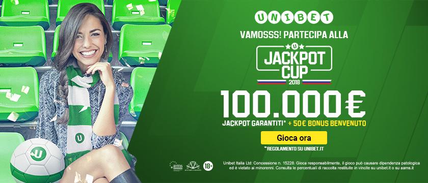 """Russia 2018, con Unibet scommesse mondiali con la """"Jackpot Cup"""""""