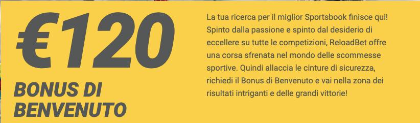 Reloadbet welcome bonus