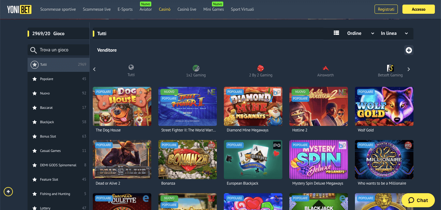 Yonibet casino slot